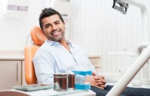 Man Smiling While in Dentist Chair Napa CA